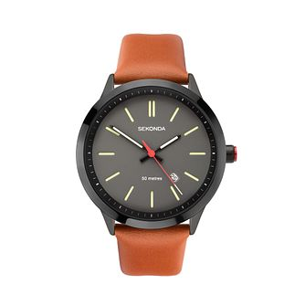 Sekonda Men's Brown Leather Strap Watch - Product number 5028604
