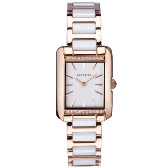 Accurist Classic Crystal Ladies' Two Tone Bracelet Watch - Product number 5029988