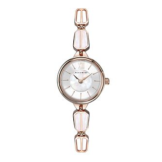 Accurist Ladies' Rose Gold Tone Bracelet Watch - Product number 5030021