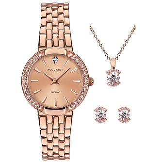 Accurist Classic Ladies' Watch & Jewellery Gift Set - Product number 5030056