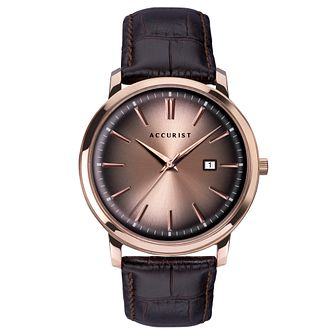 Accurist Brown Leather Strap Watch - Product number 5030099