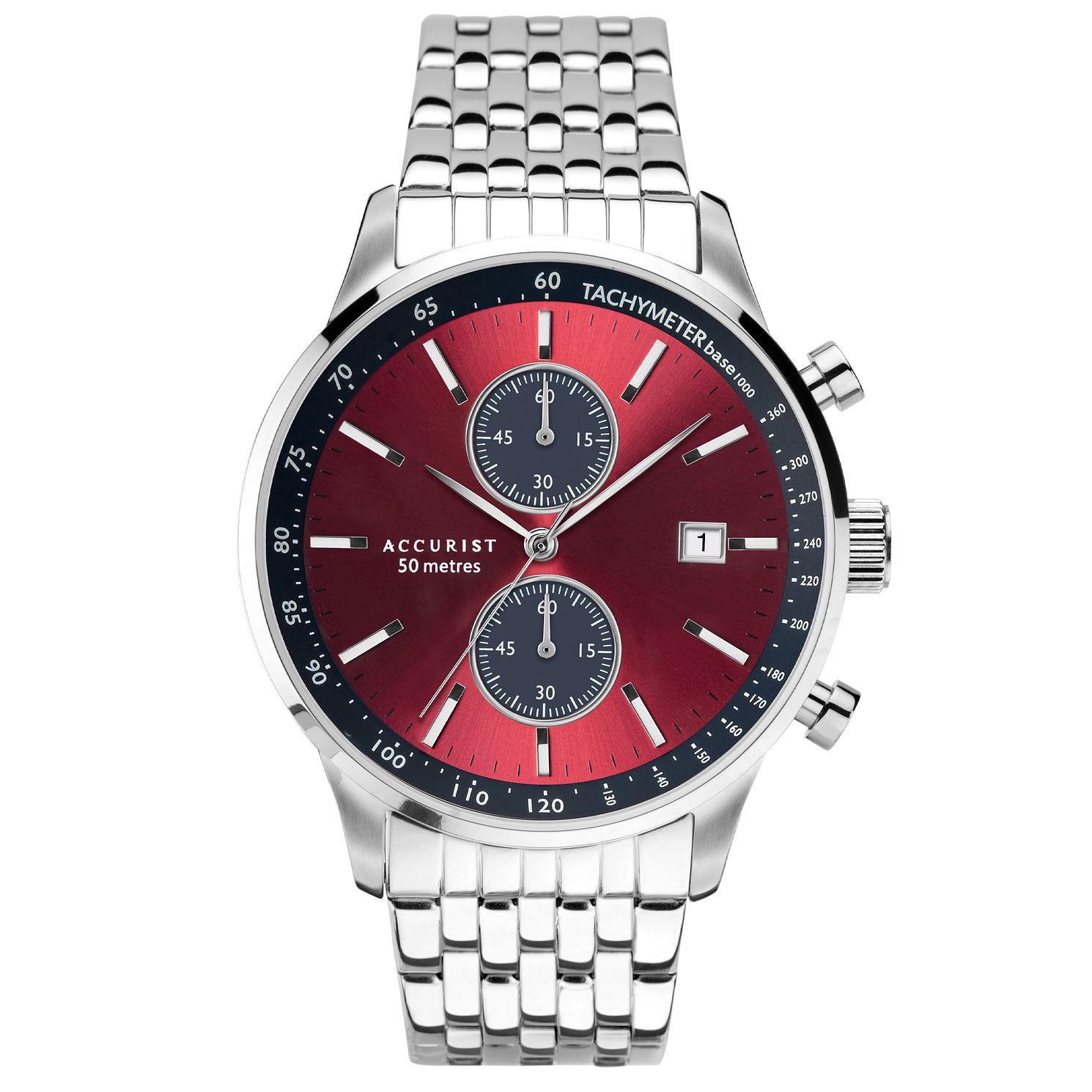 Accurist Chronograph Men's Stainless Steel Bracelet Watch - Product number 5030137