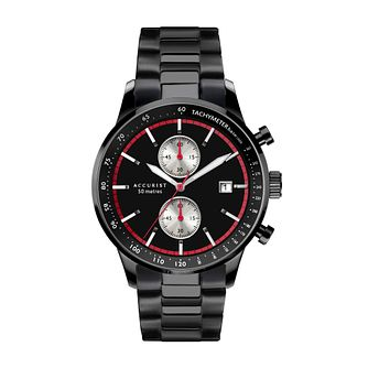 Accurist Chronograph Men's Black Ion-Plated Bracelet Watch - Product number 5030145