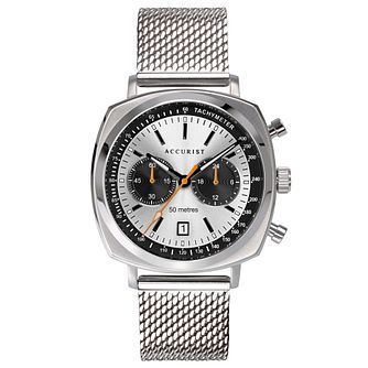 Accurist Chronograph Men's Silver Tone Mesh Bracelet Watch - Product number 5030188