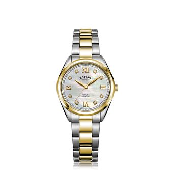 Rotary Henley Diamond Ladies' Two Tone Bracelet Watch - Product number 5030234