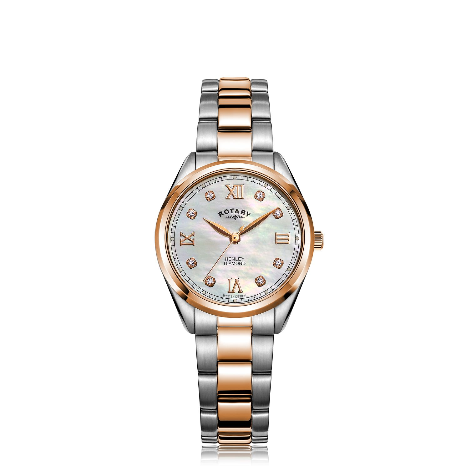 Rotary Henley Diamond Ladies' Two Tone Bracelet Watch - Product number 5030242