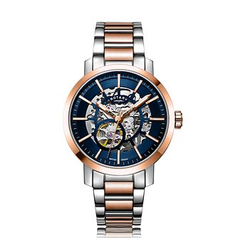 Rotary Greenwich Skeleton Two Tone Bracelet Watch - Product number 5030269