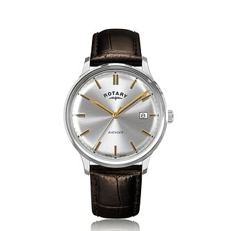 Rotary Avenger Brown Leather Strap Watch - Product number 5030382