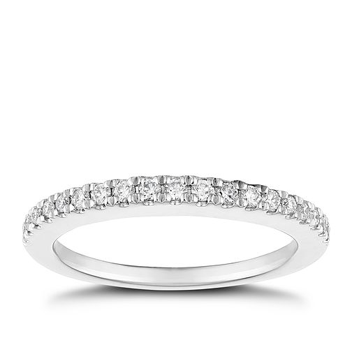 Tolkowsky Platinum 1/4ct Diamond Wedding Ring - Product number 5033683