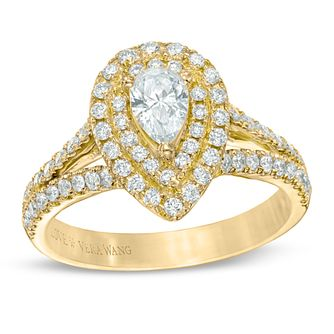 Vera Wang 18ct Yellow Gold 0.95ct H1/Si2I1 Diamond Ring - Product number 5038480