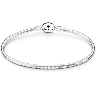 Chamilia Sterling Silver Oval Snap Bracelet 7.1 Inch - Product number 5042755