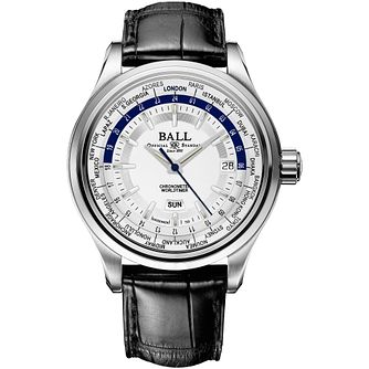Ball Trainmaster Worldtime Men's Stainless Steel Strap Watch - Product number 5045223