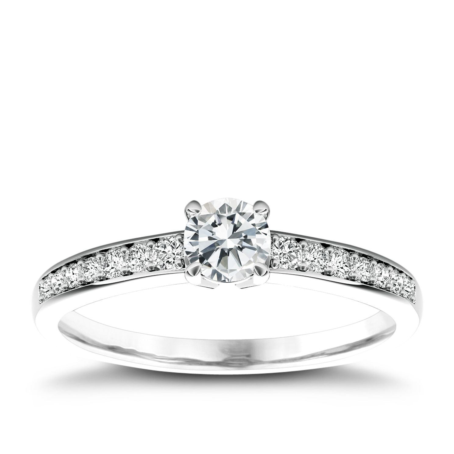 The Diamond Story Platinum 0.50ct Total Diamond Ring - Product number 5045584