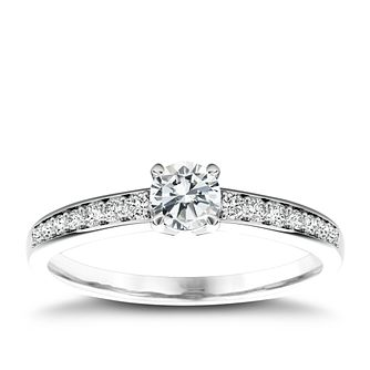 The Diamond Story Platinum 1/2ct Diamond Ring - Product number 5045584