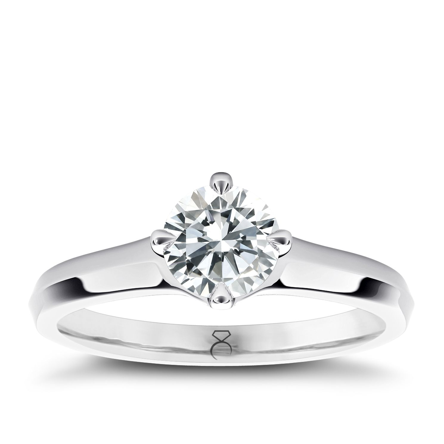 The Diamond Story Platinum 1/3ct Diamond Ring - Product number 5046319