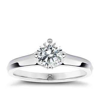 The Diamond Story Platinum 0.33ct Diamond Ring - Product number 5046319
