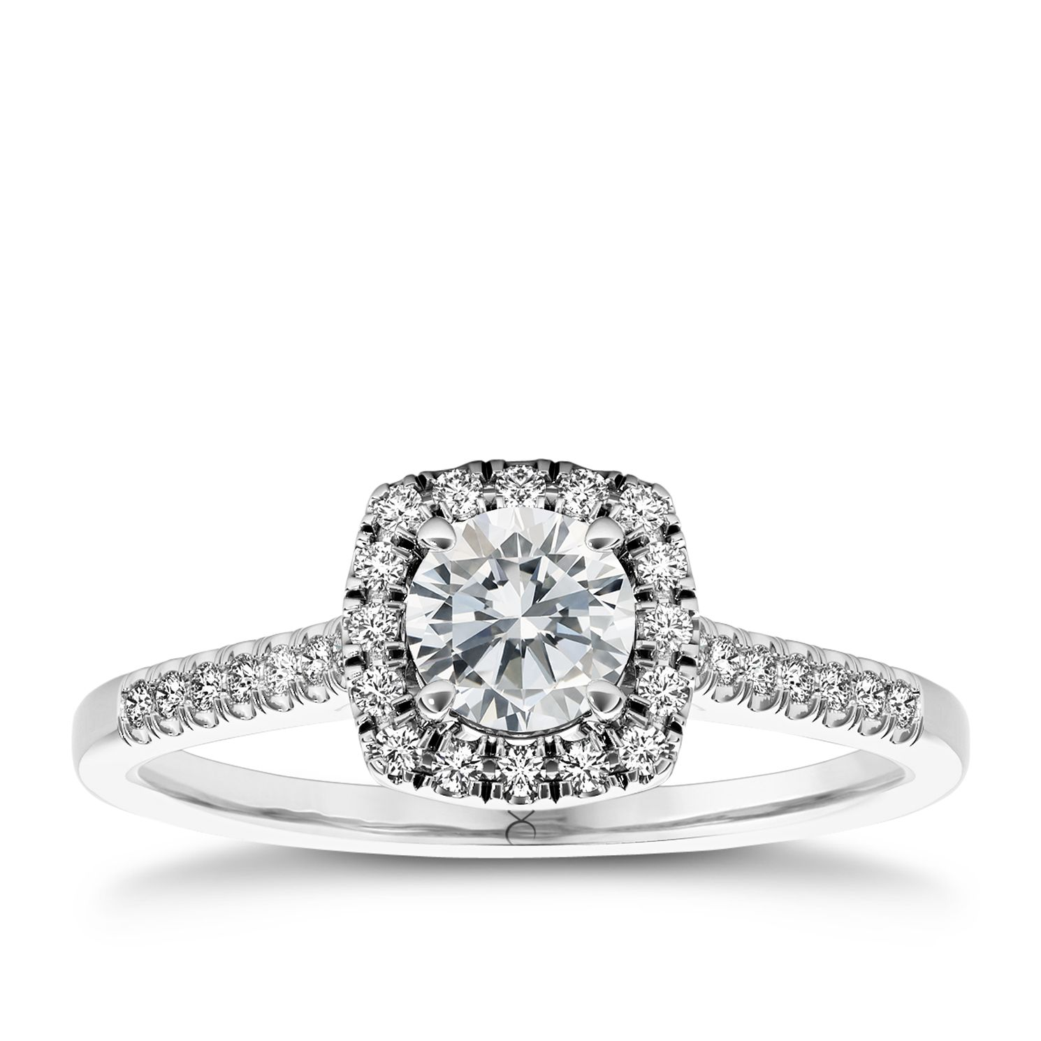 The Diamond Story Platinum 0.66ct Total Diamond Ring - Product number 5046734