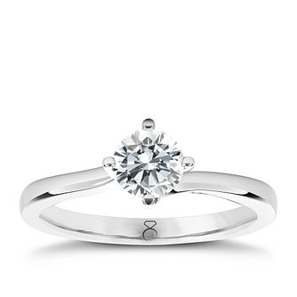 The Diamond Story Platinum 1/3ct HI I1 Diamond Ring - Product number 5046998