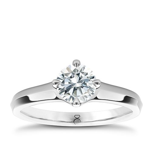 The Diamond Story Platinum 1ct diamond solitaire ring - Product number 5047935
