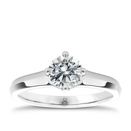 The Diamond Story Platinum 2ct diamond solitaire ring - Product number 5048206