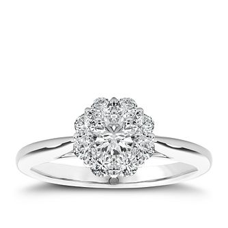 The Diamond Story Platinum 0.50ct Total Diamond Ring - Product number 5048354