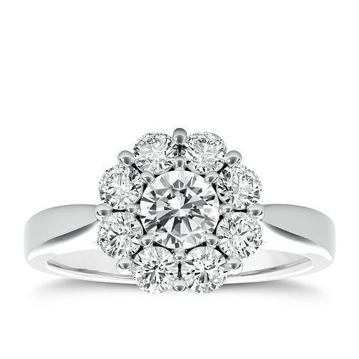 The Diamond Story Platinum 1ct HI I1 Diamond Ring - Product number 5048753