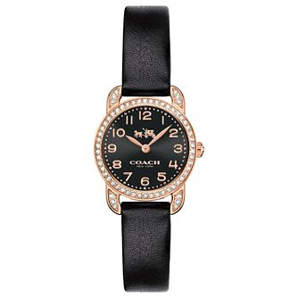 Coach Delancey Ladies' Rose Gold Plated Strap Watch - Product number 5053838