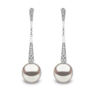 Yoko London 18ct White Gold Pearl 0.17ct Diamond Earrings - Product number 5055733
