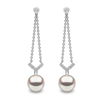 Yoko London 18ct White Gold Pearl 0.21ct Diamond Earrings - Product number 5055741