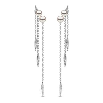 Yoko London 18ct White Gold Pearl 0.38ct Diamond Earrings - Product number 5055768
