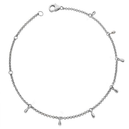 Lucy Quartermaine Silver 925 Multi Drop Anklet - Product number 5056241