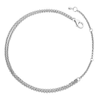 Lucy Quartermaine Silver 925 Double Chain Anklet - Product number 5056608