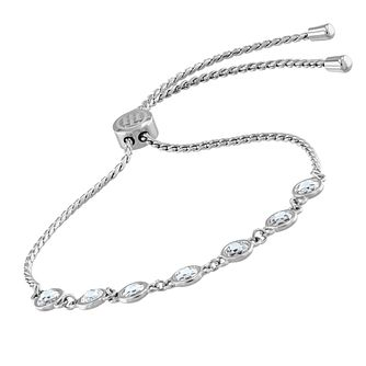 Tommy Hilfiger Stainless Steel & Crystal Adjustable Bracelet - Product number 5056667