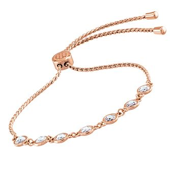 Tommy Hilfiger Rose Gold Tone Crystal Adjustable Bracelet - Product number 5056713