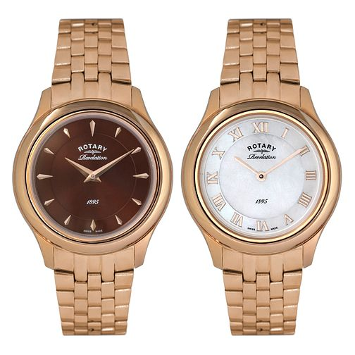 Rotary Revelation Ladies' Gold-Plated Bracelet Watch - Product number 5057019