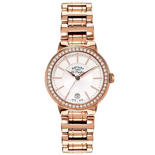 Rotary Les Originales Ladies' Rose Gold-Plated Watch - Product number 5057140