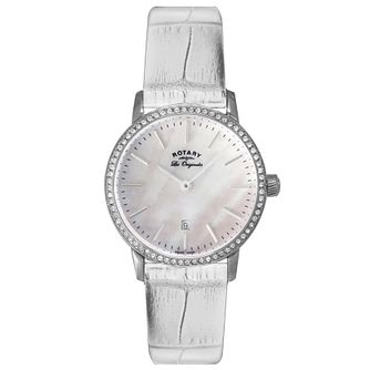Rotary Les Originales Ladies' White Leather Strap Watch - Product number 5057299
