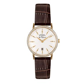 Rotary Les Originales Ladies' Brown Leather Strap Watch - Product number 5057302