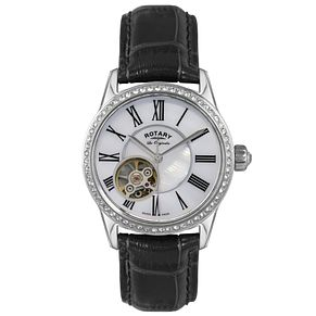 Rotary Les Originales Ladies' Black Leather Strap Watch - Product number 5057310