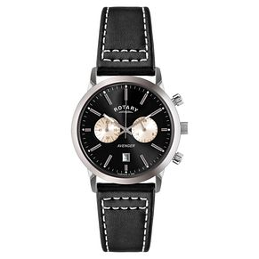 Rotary Avenger Men's Black Leather Strap Watch - Product number 5057787