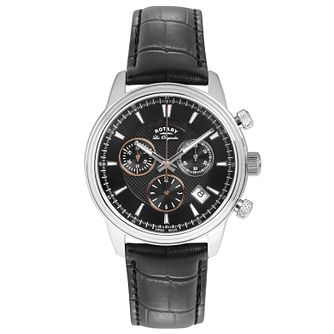 Rotary Les Originales Men's Black Leather Strap Watch - Product number 5057981
