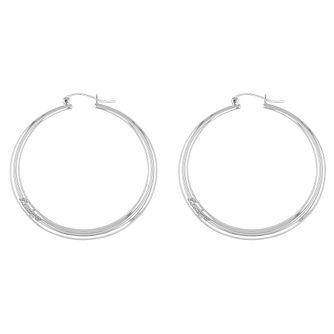 Tommy Hilfiger Silver Tone Hoop Earrings - Product number 5058120