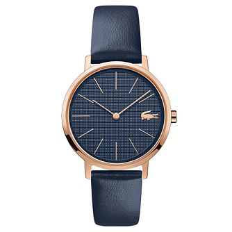Lacoste Moon Ladies' Blue Leather Strap Watch - Product number 5058228