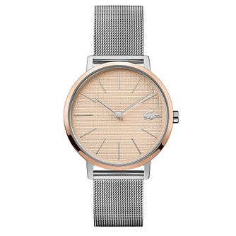 Lacoste Moon Ladies' Stainless Steel Mesh Bracelet Watch - Product number 5058244