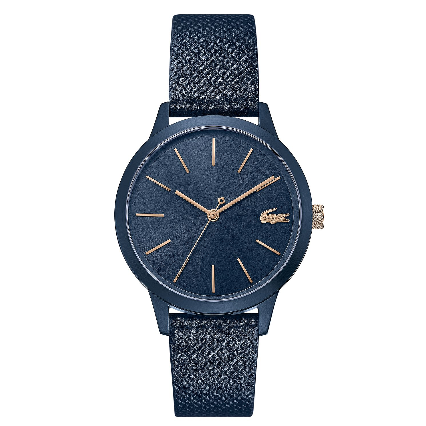 Lacoste 12.12 Ladies' Dark Blue Leather Strap Watch - Product number 5058279