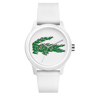 Lacoste 12.12 Holiday Ladies' White Silicone Strap Watch - Product number 5058317