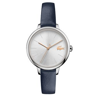 Lacoste Cannes Ladies' Blue Leather Strap Watch - Product number 5058325