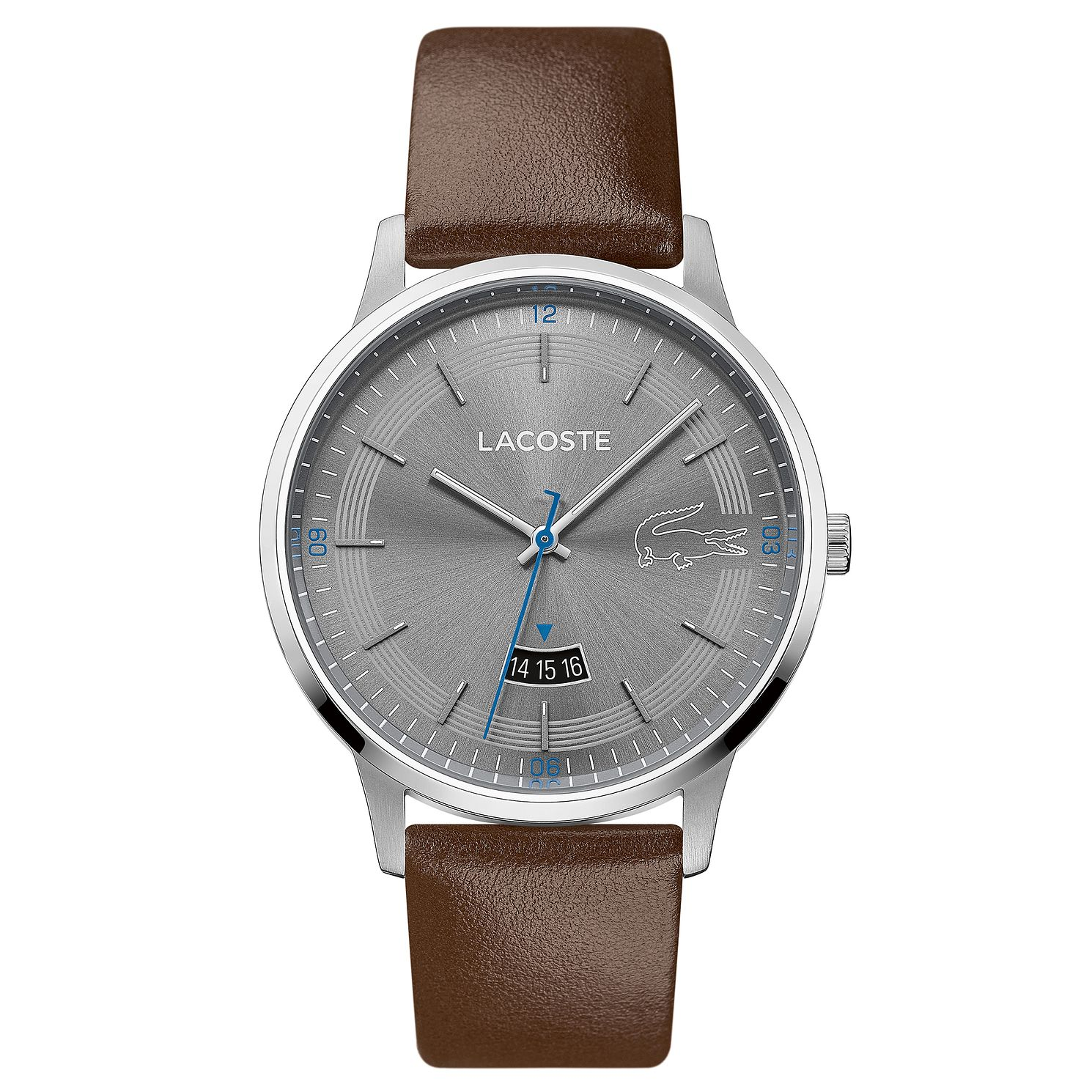 Lacoste Madrid Men's Brown Leather Strap Watch - Product number 5058406