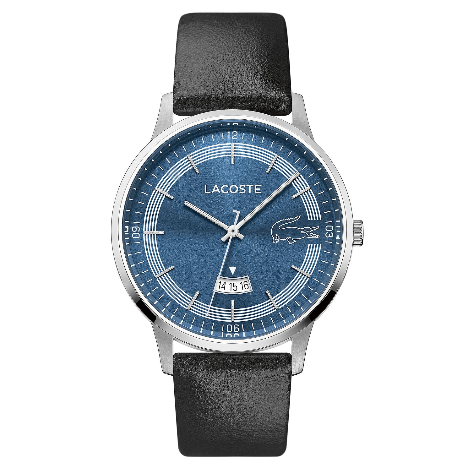 Lacoste Madrid Men's Black Leather Strap Watch - Product number 5058414