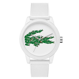 Lacoste 12.12 Holiday Men's White Silicone Strap Watch - Product number 5058422